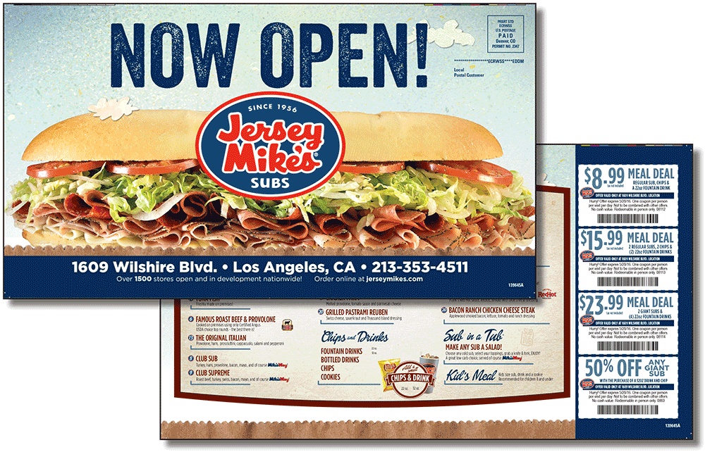 Jersey Mikes Supersize Postcard