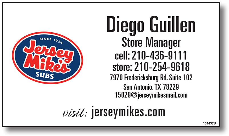 Jersey Mikes Business Card - Affordable Marketing