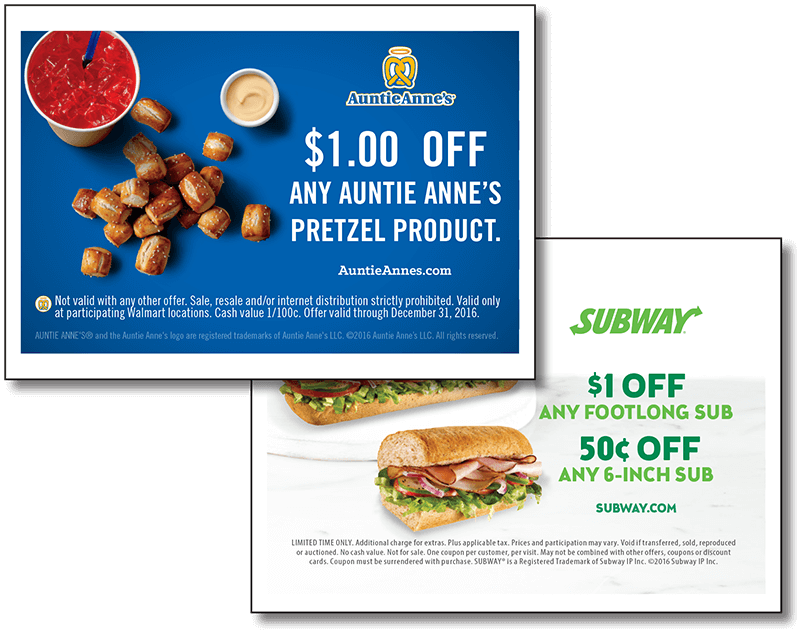 Auntie Annes / Subway Mini Handout