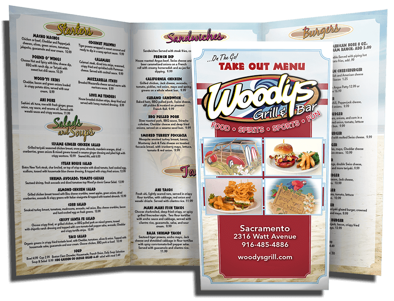 Wood'ys TriFold Menu/ Premium Flyer